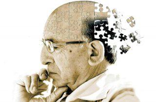 Imagen de cabeza en puzzle enfermedad de alzehimer