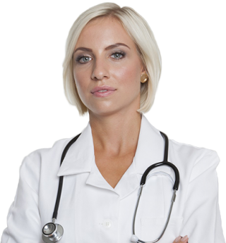 Imagen de doctora joven y rubia