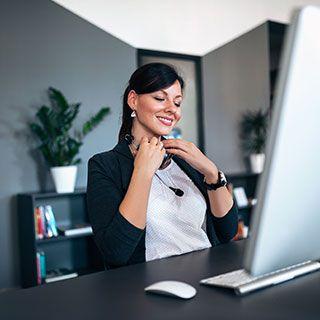Mujer en terapia online